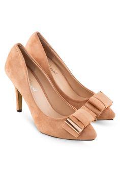 KOUMI KOUMI SADIE Faux Suede Heels with Bow SADIE蝴蝶結高跟鞋 (HKD 184.00)