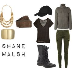 (Yeah, I'm totally on a walking dead kick right now.)      The Walking Dead Character Sets- Shane Walsh, created by jj95 on Polyvore