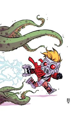 Legendary Star-Lord :: 1 (All-New Marvel NOW!) baby variant by Skottie Young Comic Book Artists, Comic Book Characters, Marvel Characters, Comic Character, Comic Books Art, Comic Art, Marvel Comics, Marvel Art, Marvel Heroes