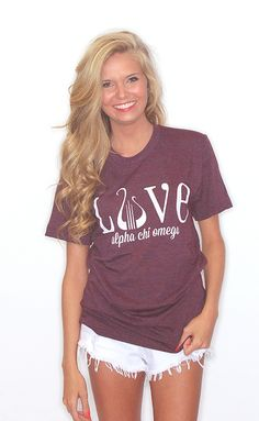 Love Greek American Apparel Tee [Alpha Chi Omega]�.  Looks so comfy and casual