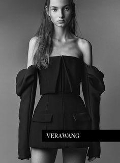 Zhenya Migovych stars in Vera Wang's spring 2017 campaign