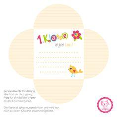 Einschulungsbox Bunte Buchstaben - Grusskarte in Gelb #naehfein #einschulung #karte