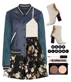 """""""Moody Floral"""" by seannna-hale ❤ liked on Polyvore featuring rag & bone, Lanvin, Miss Selfridge and NYX"""