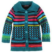 Catimini, Striped  knit coat with a jersey lining