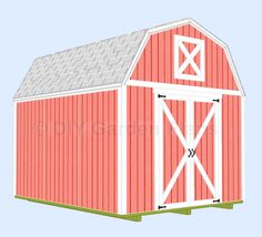 10x12 Gambrel Shed Plans with Loft. Add a window or two and it could be a guest house