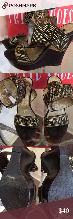 DOLLHOUSE PLATFORM PRINT SANDALS DOLLHOUSE PRINTED PLATFORMS WITH VELCRO ANKLE STRAP 4 1/2 INCH PLATFORM! Dollhouse Shoes Platforms