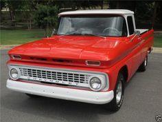 1963 Chevrolet C-10 Pickup Truck, Red/White, Refrigerator Magnet | eBay