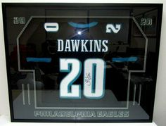 Brian Dawkins SIGNED & FRAMED Philadelphia Eagles Black Custom Jersey JSA . $699.00. Featured is a SIGNEDBrian Dawkins Black Custom Jersey.This jersey was hand-signed byBrian Dawkinsand includesJSAhologram with matching Certificate of Authenticity.Jersey size is large, features sewn name and numbers.Brian Dawkinsis anine-time Pro Bowl selection, Dawkins is a member of the Philadelphia Eagles 75th Anniversary Team, the NFL 2000s All-Decade Team and ...