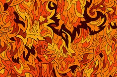Seamless fur or flame pattern by Andrew Bzh. on Creative Market