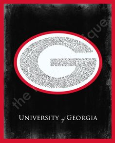 INSTANT DOWNLOAD, University of Georgia Digital Art Printable, No. 98
