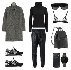 """""""Sports Luxe Fall"""" by fashionlandscape ❤ liked on Polyvore featuring R13, N.Peal Cashmere, Isabel Marant, New Balance, Samsung, CLUSE and Kriss Soonik"""