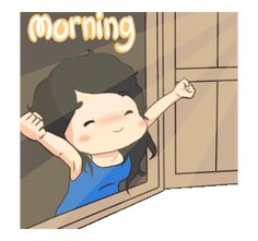 LINE Creators' Stickers - Alshabella 2 Example with GIF Animation Good Morning Smiley, Cute Good Morning Quotes, Good Morning Wishes, Good Morning Cartoon, Cute Cartoon Pictures, Cute Love Cartoons, Gif Pictures, Good Morning Gif Animation, Gif Lindos