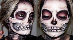 ✿ ☠ Sugar Skull   Makeup Tutorial ☠ ✿ - YouTube