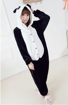 Flannel family animal pajamas one piece onsies onesies cosplay pigiama panda…