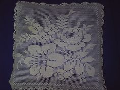 Lace  pillow Model With  Flower Motif by Crochet Knitting, via Flickr