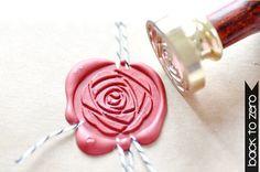 B20 Siegel Stempel Pfingstrose Camellia Blume von Backtozero