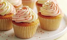 Mary Berry Special Part Two: Vanilla cupcakes with swirly icing | Daily Mail Online Mary Berry Vanilla Cupcakes, Easy Vanilla Cupcakes, Mary Berry Icing, Strawberry Cupcakes, Vanilla Buttercream Uk, Baking Cupcakes, Mary Berry Buttercream, Mary Berry Muffins, Vanilla Fairy Cakes
