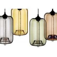 Industrial Pod Pendant Light - Smokey Blue | Cult UK