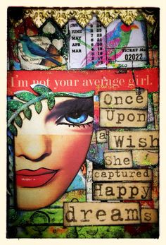 Cardboard tag created for Retro Cafe Art Gallery Supplies: -gold German dresdon borders -laurel wreath cut outs -collage words cv3 -Tim Holtz rub ons  & -face by CrowAboutStudioB
