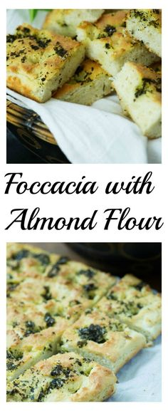 Focaccia with Almond Flour, a delicious gluten-free and low carb bread. You'll be amazed at how light and fluffy this is.