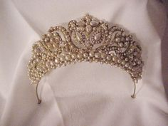 Victorian Pearl Tiara from 'Memories and Private Collections' article on Barbaraanne's Hair Comb Blog