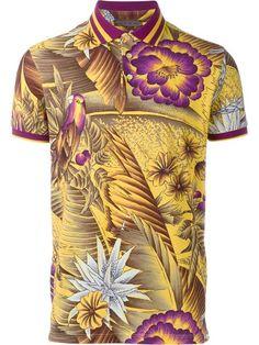 ETRO Tropical Print Polo Shirt. #etro #cloth #shirt