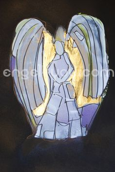 Bild in Acrylfarben, ca 29 x 21 cm, handsigniert, tlw mit Blattgold versehen, Unikat; mehr info´s auf engel4you.com  #engel4you #austria Advent, Gold Leaf, Xmas Pics, Guardian Angels