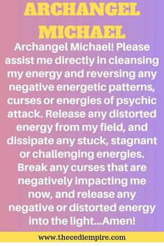 This Prayer to angel Michael reverses negative energy and spirit Spiritual Warfare Prayers, Spiritual Words, Novena Prayers, Catholic Prayers, Prayer Quotes, Faith Quotes, Prayer For Protection, Angel Protection, Healing Affirmations