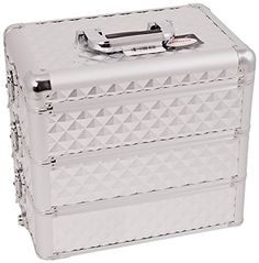 Craft Accents Professional Aluminum Cosmetic Makeup Case, All Black Dot Pattern , 192 Ounce ** Check out the image by visiting the link.