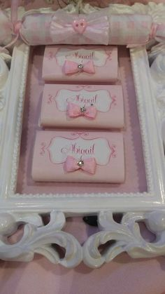 Pink treats at a carousel birthday party! See more party planning ideas at CatchMyParty.com!