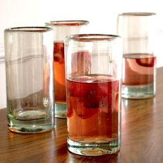 $32 Awesome chunky recycled glassware