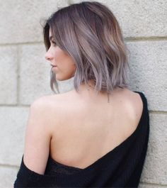 Protective style: colored weave and/or wig idea | SAND BALAYAGE WITH GREY TIPS!!!! Gorgeous!