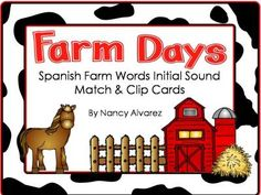 $0-Spanish:  Farm Initial Sound Clip Cards from Teaching With Nancy  on TeachersNotebook.com -  (13 pages)
