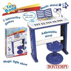 L'Organo elettronico parlante a 32 tasti con microfono è uno strumento musicale educativo ed interattivo.