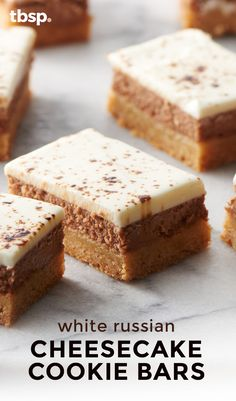 These layered cheesecake cookie bars taste just like the classic White Russian cocktail in dessert form!