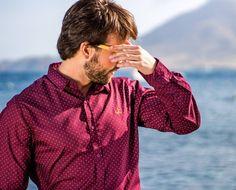 NUEVA COLECCIÓN YA A LA VENTA!!!  Camisa burdeos de topos con logo bordado en color mostaza!!! Pedidos al WhatsApp 696828181  #piocca #camisa #hombre #moda #nuevacoleccion #verano #laisletadelmoro #almería #elparaiso #mar #playa #montañas #picofday #madeinspain #madeinalmeria
