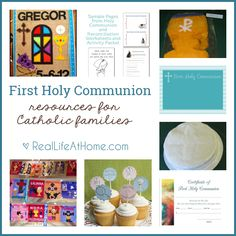 Preparing for First Holy Communion can be such a busy time! Here is a listing of First Communion resources to help with your planning.