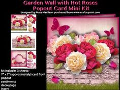 Garden Wall With Hot Roses Popout Card Mini Kit