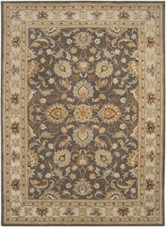 Traditional Area Rug Charcoal Beigecolor Surya Caesar Collection