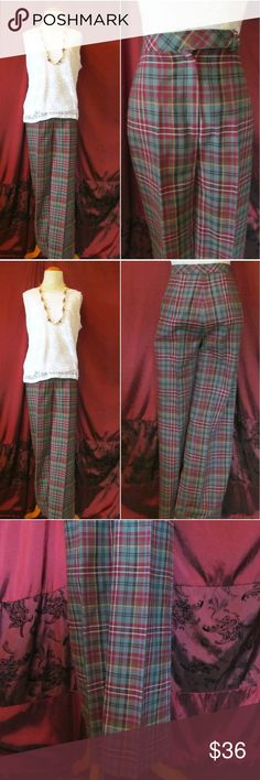 """Vintage Mod Late '60s Plaid Bellbottom Pants Vintage '60s Plaid Bellbottom Pants My mom said these were all the rage in late '60s when she was a teen, so I was super excited when I finally found a pair. Quality tailoring & classic enough to wear today, with wide legs & bellbottom flare. Designer: Bobbie Brooks Size: Think it says 7 but runs very small like 0-2 Waist: 25"""" Hips: 32"""" Inseam: 32"""" Outerseam: 43"""" Bellbottom width: 11.5"""" Material: 100% polyester, feels like wool. Condition: Very…"""