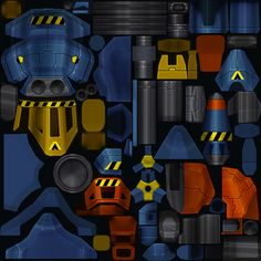 Our main hero Turret texture for our mobile game NanoOps