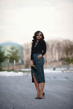 midi pencil skirt!