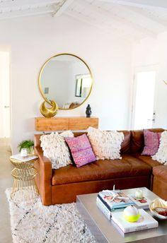 Dicas para Usar Sofá de Couro na Decoração da Sala