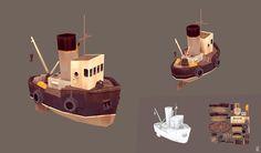 ArtStation - Old rusty longboat, Denis Spichkin