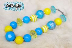 Chunky necklace by Cali Bow Shop. Little girl necklace, perfect for photography prop. Etsy store and Fb LIKE page.