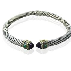 David Yurman 14K Gold Sterling Gemstone Cable Collar Necklace  Available on our August 11th Auction @ hamptonauction.com