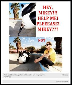 Bad Mikey!!!