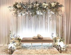 Wedding Backdrop Design, Wedding Stage Design, Wedding Hall Decorations, Wedding Reception Backdrop, Engagement Decorations, Backdrop Decorations, Decoration Buffet, Wedding Scene, Profile