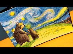 Draw Van Gogh's Starry Night - ft Inktense Pencils - YouTube