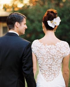 Love the back of this Lela Rose gown!